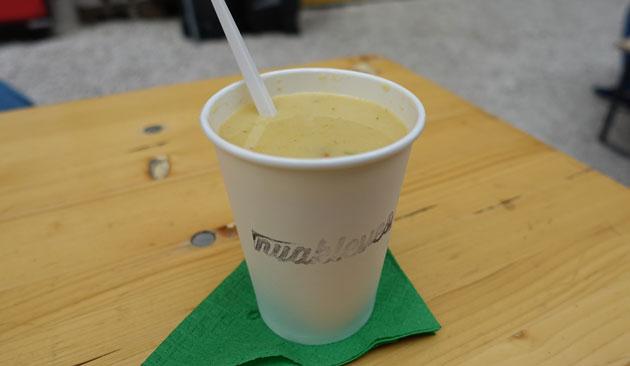 Corn and crayfish soup, 600 Hungarian Forint