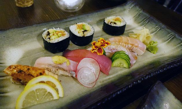 Entree sushi platter, $25.40