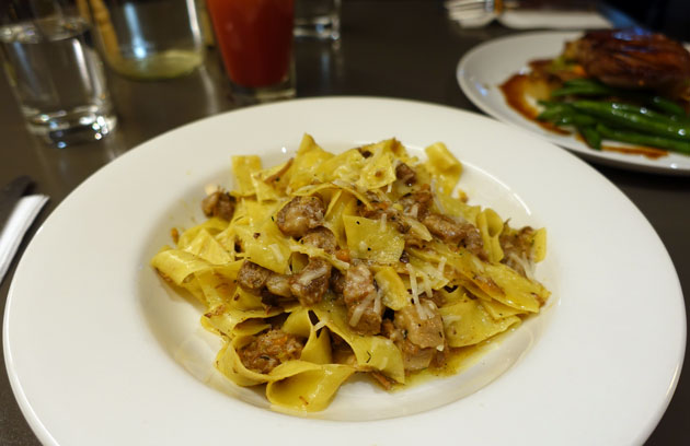 Lamb ragu with pappardelle pasta and parmesan, $26 AUD