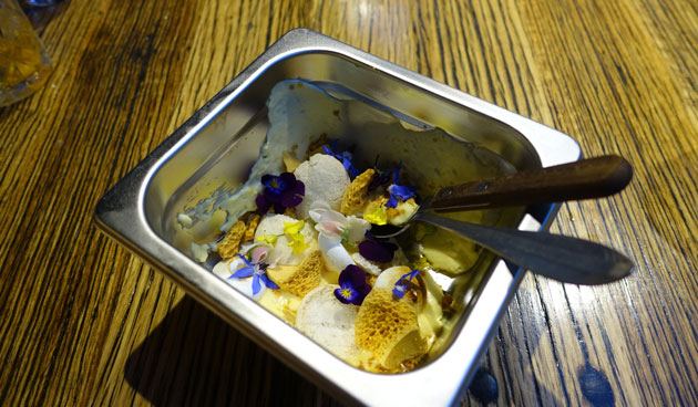 The Kitchen Sink - lemon curd, honeycomb, white chocolate mousse and macarons, $15 AUD
